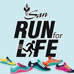 SAN Run for Life Logo